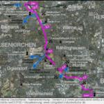 Erzbahntrasse von Bochum Jahrhunderthalle richtung Gelsenkirchen